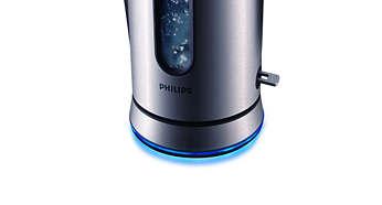 Lichtring leuchtet bei eingeschaltetem Wasserkocher