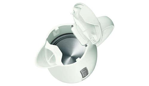 La resistenza piatta garantisce una rapida bollitura e una pulizia semplice