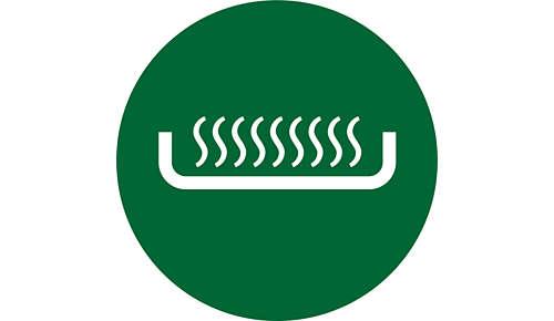 Litteä, helposti puhdistettava lämmityselementti nopeaan keittämiseen