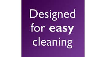 Superfícies lisas e fáceis de limpar