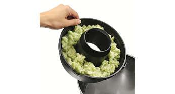 A polpa é coletada em um único local para um fácil descarte