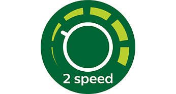 2 velocidades para todos os tipos de alimentos