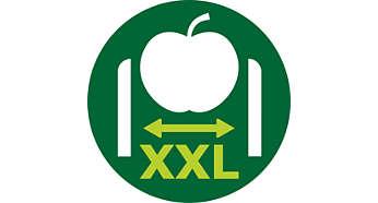 Díky XXL přívodní trubici není třeba nic rozkrajovat