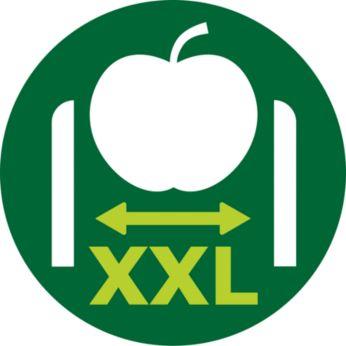 Без предварително нарязване благодарение на улея за подаване XXL