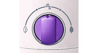 Pokrętło regulacji temperatury pomaga uzyskać najlepszy smak