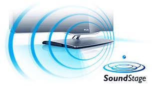 40 W SoundStage för dynamiskt kraftfullt ljud i en ultratunn TV