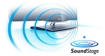 40 W SoundStage for a dynamic, powerful sound in an ultra slim TV