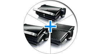 Meerdere grillstanden: tafelgrill, ovengrill, contactgrill
