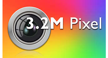 3.2 megapixel autofocus camera with flash