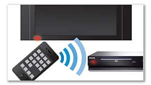 Transformez votre smartphone en télécommande pour les produits audio/vidéo Philips
