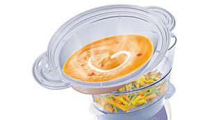 Pojemnik do gotowania na parze XL — zupy, gulasz, ryż i nie tylko