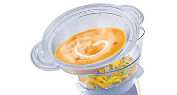 Bol vapeur grande capacité pour préparer soupes, ragoûts, riz et bien plus encore