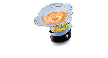 XL-Dampfaufsatz für Suppen, Eintöpfe, Reis und mehr