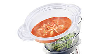 Naparovacia miska XL na polievku, dusené mäso, ryžu a ďalšie pokrmy