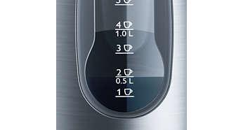 一杯指示燈,讓您可適量沖煮所需的水量