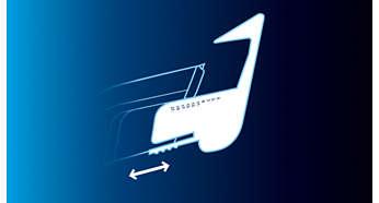 Regulowane grzebienie prowadzące zapewniają dodatkową wygodę
