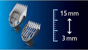 Rango de posiciones de longitud desde1 hasta 15mm