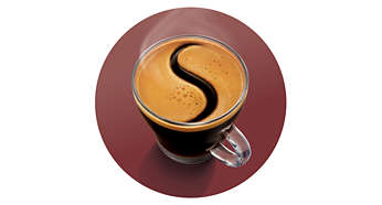 Delicious coffee crema layer as proof of SENSEO® quality