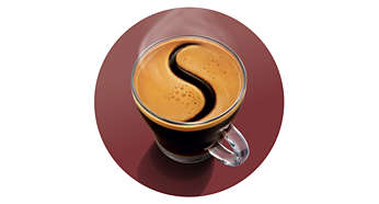 Deliciosa capa de crema de café como prueba de la calidad SENSEO®