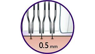 Ce système d'épilation épile même les poils de 0,5mm