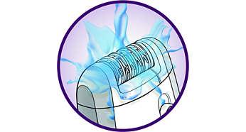 La tête d'épilation est entièrement lavable, pour une meilleure hygiène