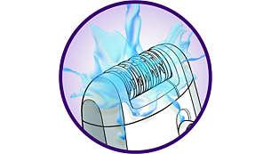 Fully washable epilation head for better hygiene