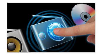 Touch screen a colori per una navigazione semplice