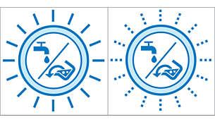 Indicatore serbatoio dell'acqua sporca pieno/serbatoio dell'acqua pulita vuoto