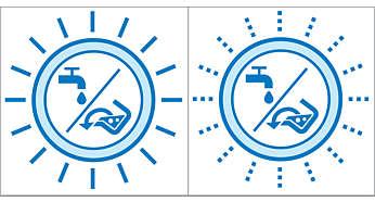 Wskaźnik informujący o napełnieniu zbiornika brudnej wody / opróżnieniu zbiornika czystej wody