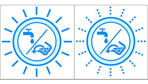 Индикатор уровня использованной и чистой воды