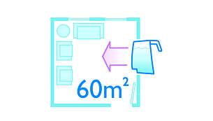 Pulisce superfici di oltre 60 m2 con un pieno d'acqua