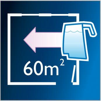 Одного резервуара для воды достаточно для уборки до 60кв.м