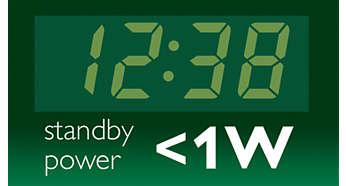 Χαμηλή κατανάλωση ρεύματος για μεγαλύτερη εξοικονόμηση ενέργειας