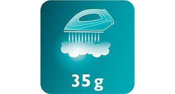 Saída de vapor constante de até 35 g/min