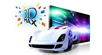 Technologia Full HD 3D Max pozwalająca zanurzyć się w świecie obrazów 3D