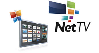 Uma grande variedade de aplicações online, vídeos para alugar e Catch-up TV