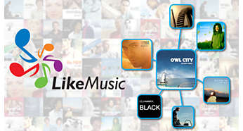 LikeMusic för spellistor för låtar som låter fantastiskt tillsammans