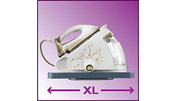 Perfect combination with steam generators: XL iron tray