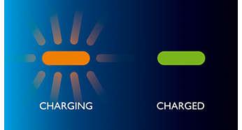 Ładowanie akumulatora, wskaźnik pełnego i niskiego poziomu naładowania