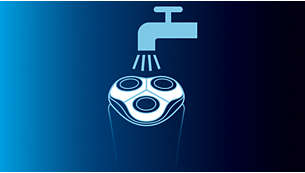 Afeitadora lavable con sistema QuickRinse
