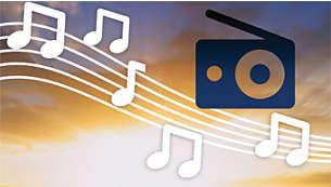 Ontwaak met een melodie, de zoemer of de radio