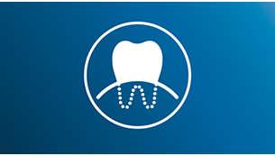 Sensitive-poetsstand: zachte reiniging van tanden en tandvlees