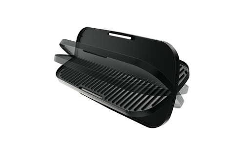 Duoplaat voor grillen op gladde of geribbelde zijde