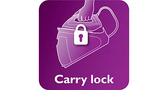 Lock your iron securely and carry your appliance easily