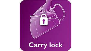 Trave seu ferro com segurança e transporte seu aparelho com facilidade