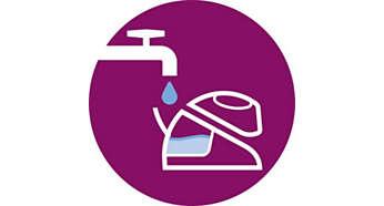 Apropriado para água canalizada, encher a qualquer altura durante o engomar