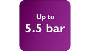 Max 5.5 bar pump pressure