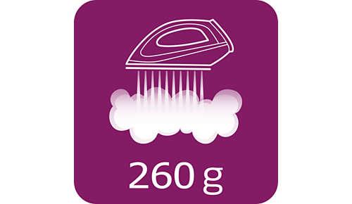 Dampfstoß von bis zu 260g