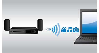 Приложен WiFi аксесоар, за да се наслаждавате на свързаната мултимедия с лекота
