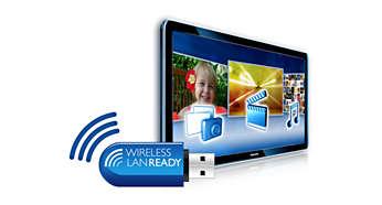 Fácil conexão wireless com o adaptador LAN wireless